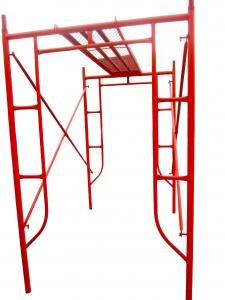 China Red Painted Steel H Frame Scaffolding System , Professional Tower Scaffold on sale