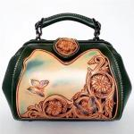 Hand engraving genuine leather