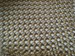 Metal Ring Decorative Wire Mesh For Cabinets , Chain Link Mesh Type,