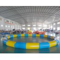 Round Inflatable PVC Swimming Pool , 3.5M*3.5M PVC Inflatable Pool For Beaches