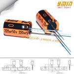 série 105°C 8.000 do capacitor LKG de 220uF 50V 10x16mm ~ 12.000 horas de capacitor eletrolítico de alumínio radial RoHS complacente