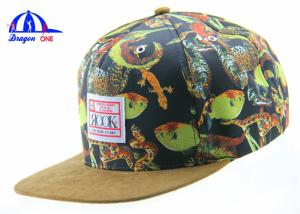 China Fashion Custom Floral 5 Panel Camp Cap , Camping Snapback Caps for Ladies on sale
