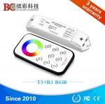 T3+R3 Mini RF wireless RGB LED controller DC 12V 24V Mini led rgb controller with touch remote control