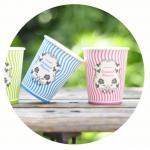 使い捨て可能なPLAの紙コップ2.7-12OZのコーヒー カップ、熱い飲み物、塗られるPLA