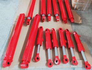 China Mini Bucket Ram Boom Hydraulic Cylinder Hard Chrome Piston Rod Material on sale