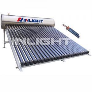China calentadores de agua solares a presión compactos del tubo de calor del acero inoxidable 20tubes para el tejado de la cuesta on sale