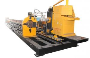 China High Accuracy CNC Steel Pipe Cutting Machine 8 Axis For Mechanical Engineering Industry on sale