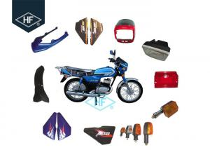 China Complete Motorcycle Plastic Body Parts Blue Front Fender Side Cover For Suzuki AX100 on sale
