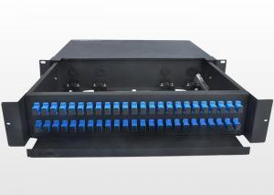 China Sliding Type 2U Fiber Optic Patch Panel Durable SC Optical Fiber Distribution Frame on sale