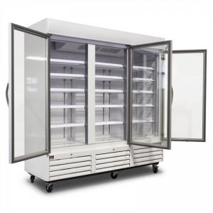 China Anti Fog Glass Door Display Freezer Stable Excellent Humidity Control on sale