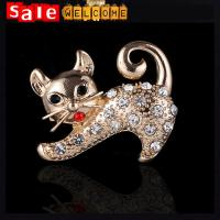 Sexy Cat Brooch Rhinestone Animal Brooches for Best Friend Gift Prom Pin Broche Brooch
