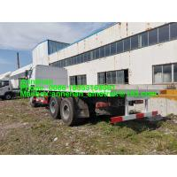 China Euro2 Left Hand Drive Flatbed Cargo Truck With 8000mm Length Bed on sale