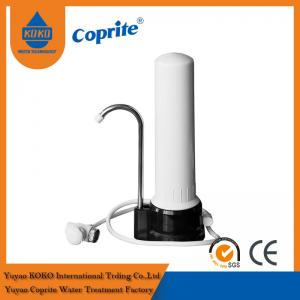 Quality One Stage PP / Ceramic Cartridge Household Water Filter With Stainlees Steel Faucet for sale