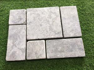 Quality Tumbled Blue Limestone Tiles,Light Grey Patio Stones,Walkway Pavers,Stone  Floor ...