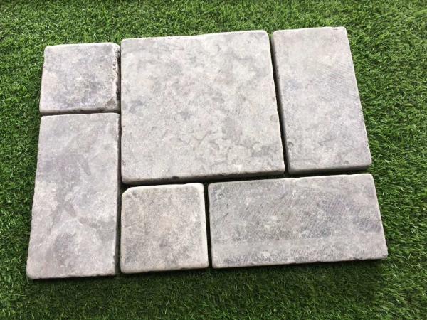 Tumbled Blue Limestone Tiles,Light Grey Patio Stones,Walkway Pavers ...