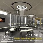 Wholesale Fashionable design glass jewelry showcase