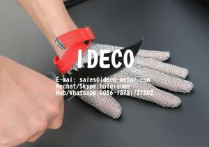 China Chain Mail Gloves for Butchers/Chefs Cut Resistant, Stainless Steel Chainmail Mesh Gloves for Meat Cutting on sale