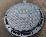 China foundry manufacture cast ironround manhole frames and covers with custom logo lid