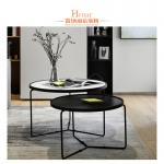 Custom Hotel Living Room Stainless Steel Coffee Table Black Color