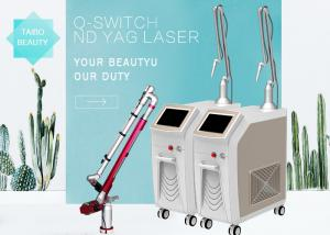 China Portable Q Switch Nd Yag Laser Freckle Removal Machine Spot Size 2 - 10 2500mj on sale