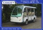 Fashion 11 Person Electric Sightseeing Bus , Max Forward Speed 40km/h for Hotel
