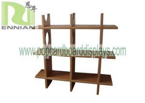 China Recycled Material Cardboard Bookshelf Environmental Freindly Corrugated Cardboard Furniture ENCF033 on sale