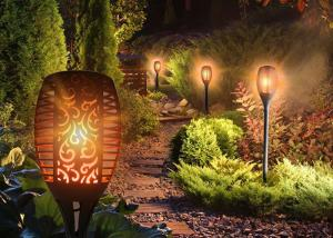 China Solar Powered Yard Light Outdoor Waterproof Solar Torch Lights Garden Landscape Decoration Lighting 96 LED,2pcs on sale