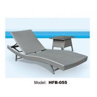China Beach sun lounger without wheels, little table at side folding sun lounger on sale