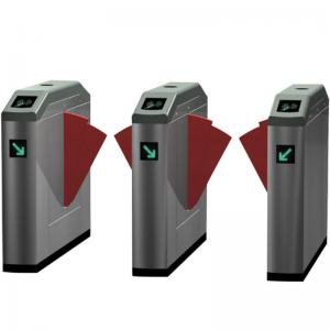 China Counter Swing Automatic Turnstiles RFID Card Reader / Barcode Reader System on sale