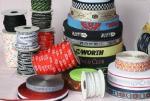 Elástico del telar jacquar, elástico del logotipo, elástico de la ropa interior, elástico de nylon