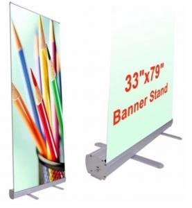 China Portable Pull Up Stand Advertising Banners Rollup Standee Aluminum Retractable on sale
