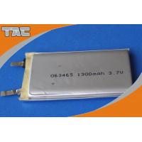 China GSP063465 3.7V 1300mAh Polymer Lithium Ion Battery cells with high capacity on sale