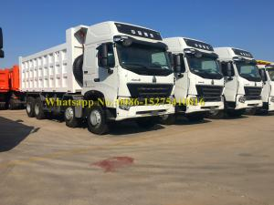 China SINOTRUCK HOWO A7 420hp 8x4 Sand Carrying Dump/ Dumper Truck For Ghana Market on sale