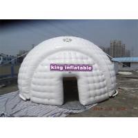 China Tienda inflable hermética/tienda blanca de la bóveda efímera para los acontecimientos de la demostración del proyecto on sale