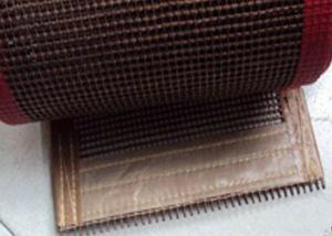 China Maille 10 x 10mm, bande de conveyeur de la catégorie comestible PTFE de résistance thermique de maille de téflon on sale