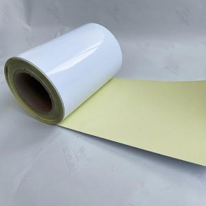 China 140GSM PET Yewllo Sillicon Liner 23um Sealing Labels on sale