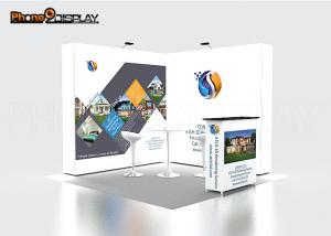China Indoor Quick Show Pop Up Exhibit Booth Event Stall Design For Trade Show Display on sale