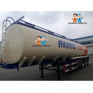 China Aluminum Alloy Enclosed 40CBM Bitumen Liquid Tanker Trailer on sale