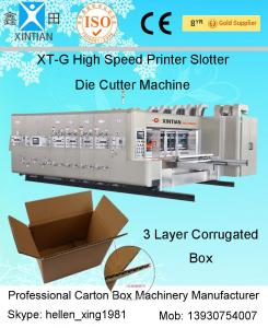 China Corrugated Carton Box Making Machine Paperboard Printing Slotting Die Cutting Machine on sale