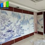 Restaurant Sliding Sound Proof Partitions Leather Painting Finish Partition Wall