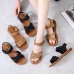 BS105 Tendon Sole Sandals Flat Shoes 2021 Summer New Shoes Student Roman Shoes Beach Shoes Soft Sole Word Women'S Shoes