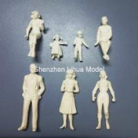 China 1:25 white figures,scale figure,architectural model people,scale peoples,G gauge people,ABS figures on sale