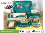 Colorful Tropical Butterfly Style Bamboo Dinnerware Set Eco - Friendly For Indoor / Outdoor