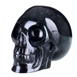 """China 4.8"""" Natural Black Obsidian Carved Stone Skull (0P05) on sale"""