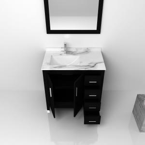 Quality White Solid Wood Bathroom Vanity Cabinets / sink basin cabinet for sale