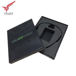 China Free sample Printed black color paper box use for electric products packaging on sale