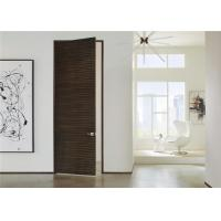 Modern Style Wooden Composite Front Doors Swing Open Eco - Friendly Nature Color