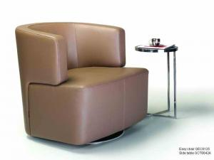 China Ginotti Italian PU / Leather Easy Chairs , Office Modern swivel leather  Chairs on sale