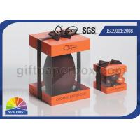 Logo Printed Transparent PVC Boxes , Gift Paper Box with Clear Plastic Window