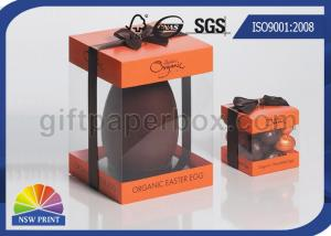 China Logo Printed Clear PET Box With Plastic Window , Clear Plastic Box UV Coating on sale